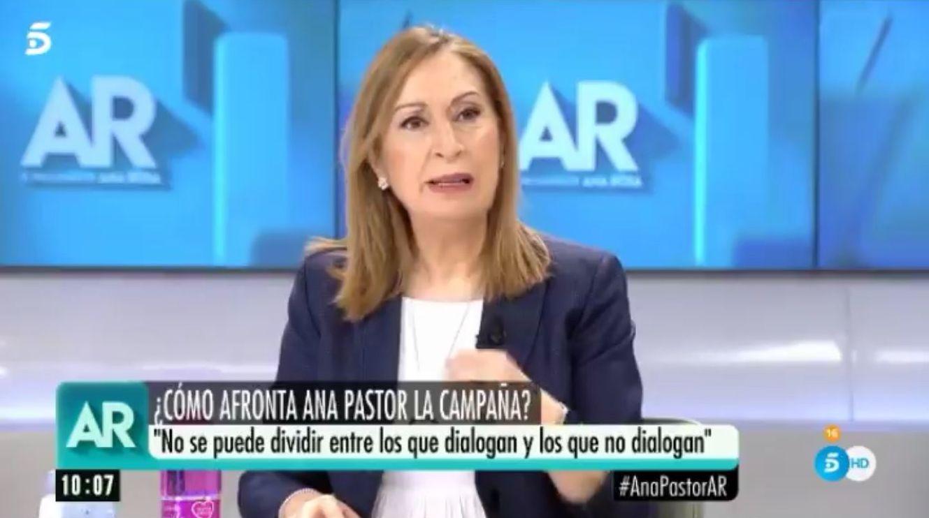 El cabreo de Ana Pastor tras esta pregunta en 'El programa de AR'