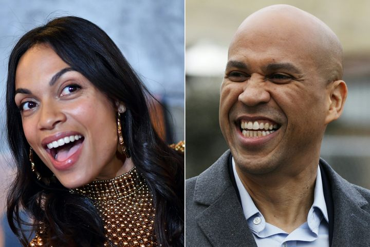 Sen. Cory Booker (D-N.J.) said he had to work up the courage to ask Rosario Dawson for her phone number.