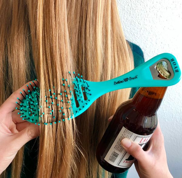It's an age-old conundrum: Hairbrushes are great for brushing hair, but suck at opening beer bottles. Meanwhile, bottle opene