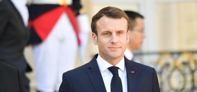 Emmanuel Macron à l'Élysée le 26 mars