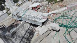 Une stèle commémorative à proximité de la tombe du poète Sghaier Ouled Ahmed