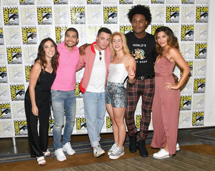 "Colton Haynes and other ""Arrow"" cast members at the 2018 Comic-Con in San Diego."