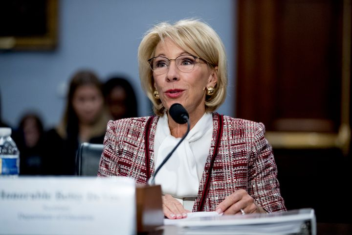 Education Secretary Betsy DeVos defended eliminating federal funding to the Special Olympics on Tuesday.