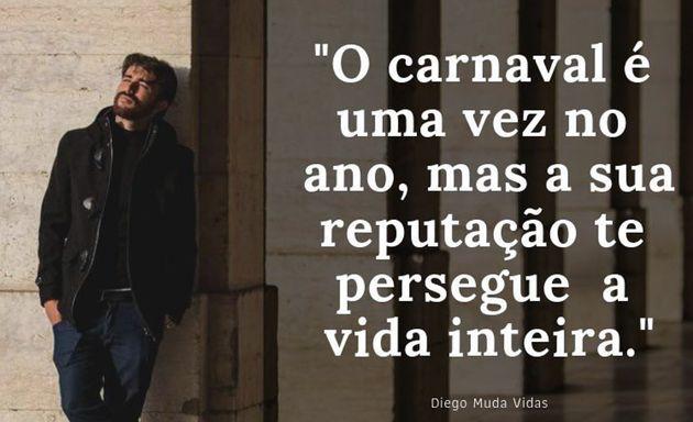 Diego Mattos publica mensagens sobre relacionamentos em suas redes sociais para divulgar seu trabalho...