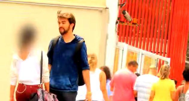 Em imagem do vídeo