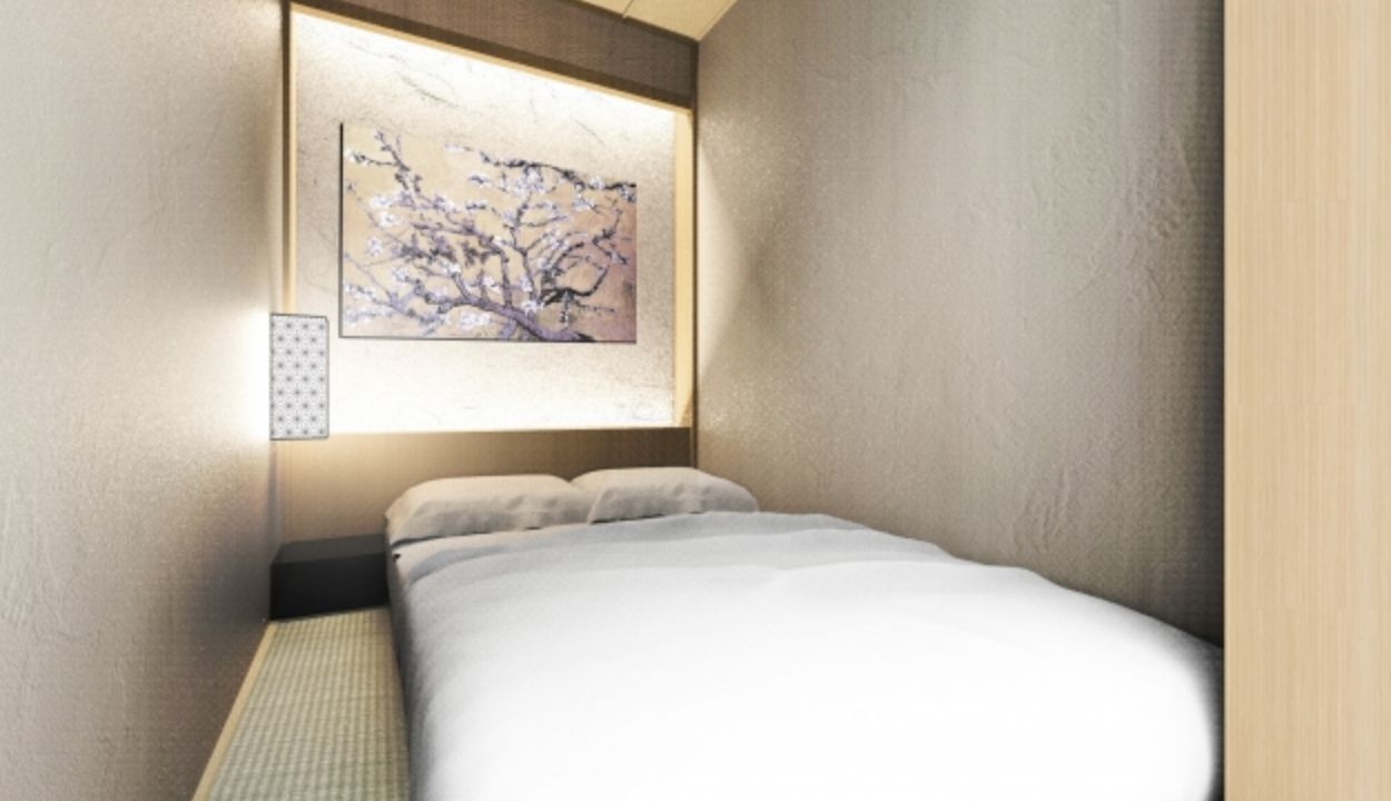 """「泊まれる茶室」が東京・日本橋に誕生 """"禅""""をテーマにしたカプセルホテル、外国人や女性に人気"""