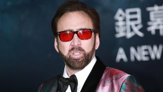 MACAO, CHINA - DECEMBER 08: American actor Nicolas Cage poses on the red carpet during the opening ceremony of the 3rd International Film Festival & Awards Macao (IFFAM) on December 8, 2018 in Macao, China. (Photo by VCG/VCG via Getty Images)