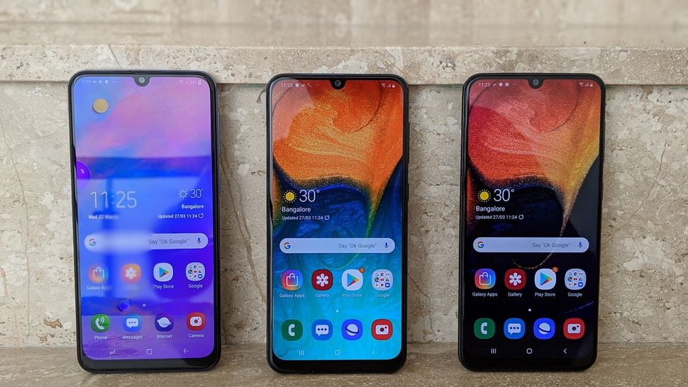 The Samsung Galaxy M30, Galaxy A30, and Galaxy
