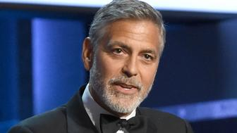 HOLLYWOOD, CA - JUNE 07:  George Clooney speaks onstage the American Film Institute's 46th Life Achievement Award Gala Tribute to George Clooney at Dolby Theatre  on June 7, 2018 in Hollywood, California..  (Photo by Michael Kovac/Getty Images for AFI)