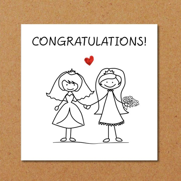 8 Glorious Gay Wedding Cards On Etsy To Celebrate Same-Sex Marriage