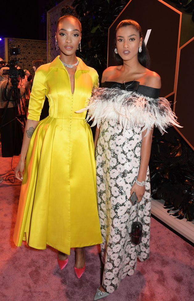 Le mannequin Britannique Jourdan Dunn et le mannequin néerlandaise d'origine maroco-égyptienne...