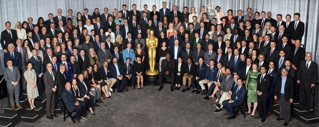 La photo de famille des nommés aux Oscars en 2018, où se cache une Agnès Varda un...