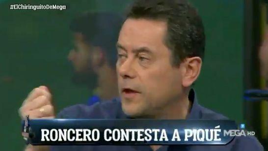 Roncero responde a la provocación en WhatsApp que Piqué contó en 'La