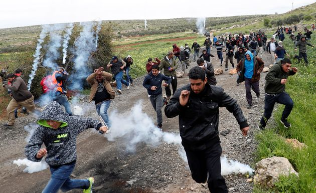 Εικόνα από επεισόδια που άρχισαν στις 29 Μαρτίου 2019, στα σύνορα της λωρίδας της Γάζας.