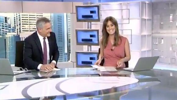 La tierna despedida de David Cantero a Isabel Jiménez ('Informativos Telecinco') en