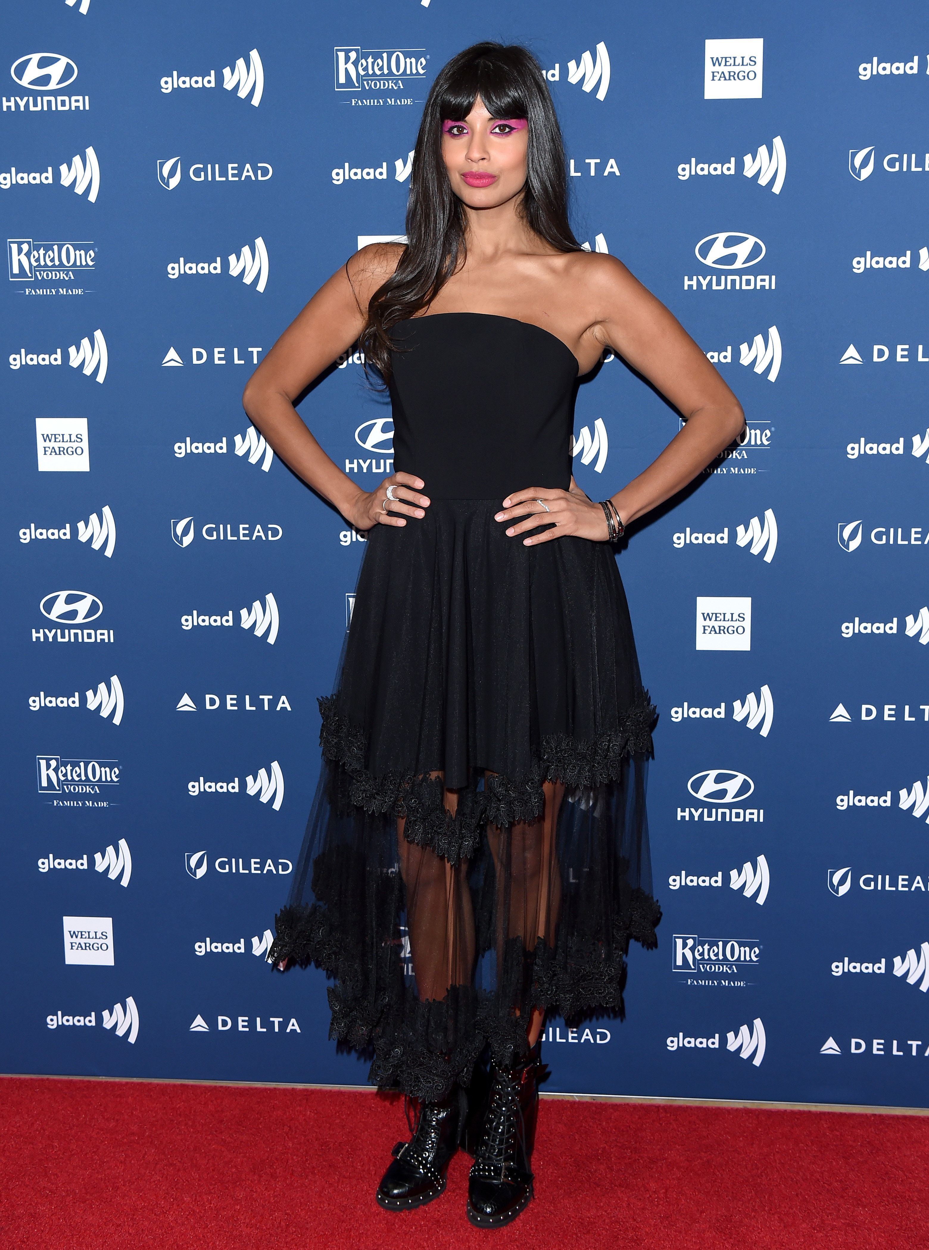 BEVERLY HILLS, CALIFORNIA - MARCH 28: Jameela Jamil attends the 30th Annual GLAAD Media Awards at The Beverly Hilton Hotel on March 28, 2019 in Beverly Hills, California. (Photo by Axelle/Bauer-Griffin/FilmMagic)