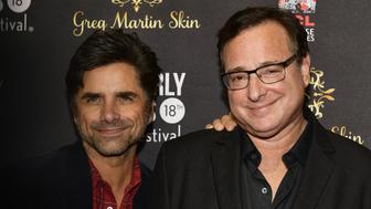 HOLLYWOOD, CA - APRIL 04:   John Stamos and Bob Saget attend the 18th Annual International Beverly Hills Film Festival Opening Night Gala Premiere of 'Benjamin' at TCL Chinese 6 Theatres on April 4, 2018 in Hollywood, California.  (Photo by Matt Winkelmeyer/Getty Images)