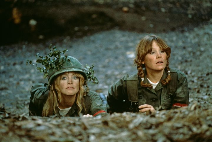 "Goldie Hawn and Mary Kay Place in ""Private Benjamin."""