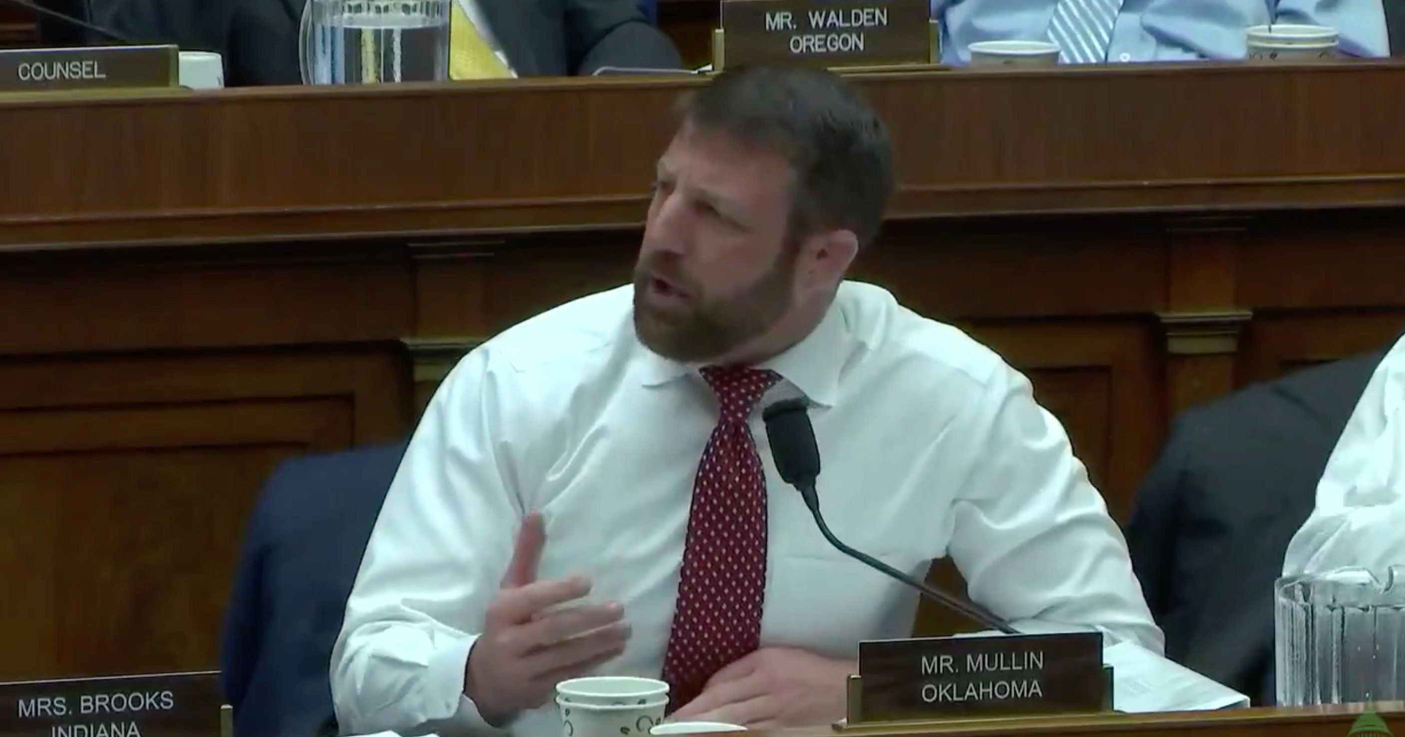 Rep. Markwayne Mullin displayed poor congressional manners when he criticized Rep. Ben RayLuján and then refused