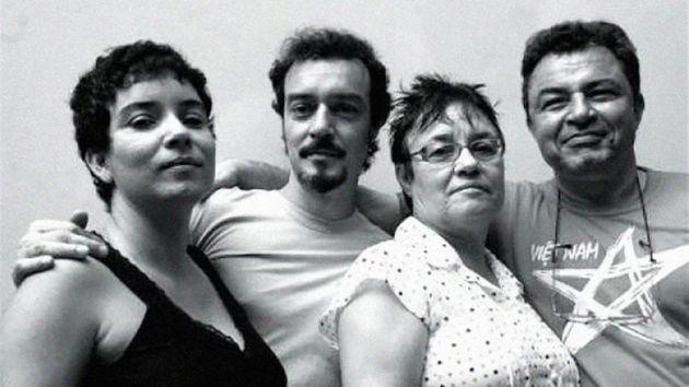 Na sequência: Janaína Teles, Edson Teles, Amelinha Teles eCésar Augusto