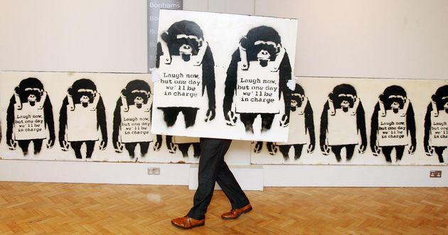 영국 브리스톨 박물관이 뱅크시의 작품으로 영국 하원을