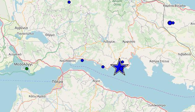 Σεισμός 5,3 ρίχτερ στο Γαλαξίδι - Αισθητός και στην