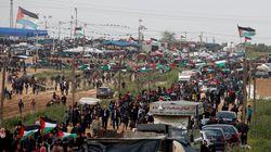 Des milliers de Gazaouis manifestent près de frontière de leur