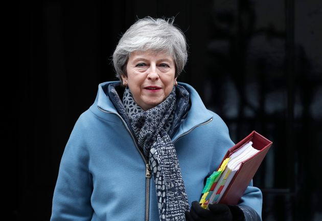 Brexit: Theresa May envisage de soumettre une 4e fois l'accord aux députés (Photo prise...