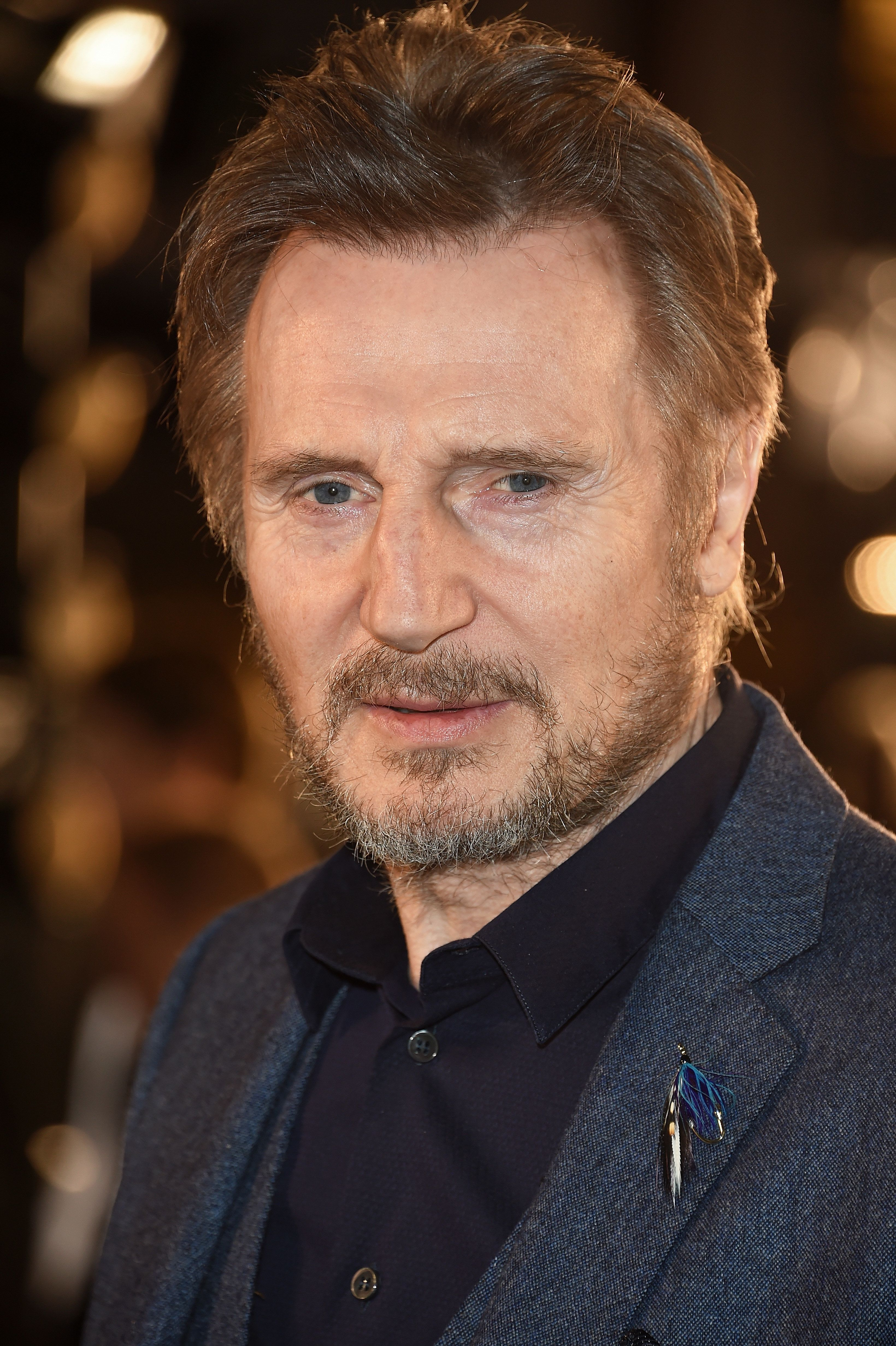 LONDON, ENGLAND - MARCH 12:  Liam Neeson attends the UK Premiere of 'The White Crow' at The Curzon Mayfair on March 12, 2019 in London, England.  (Photo by David M. Benett/Dave Benett/WireImage )