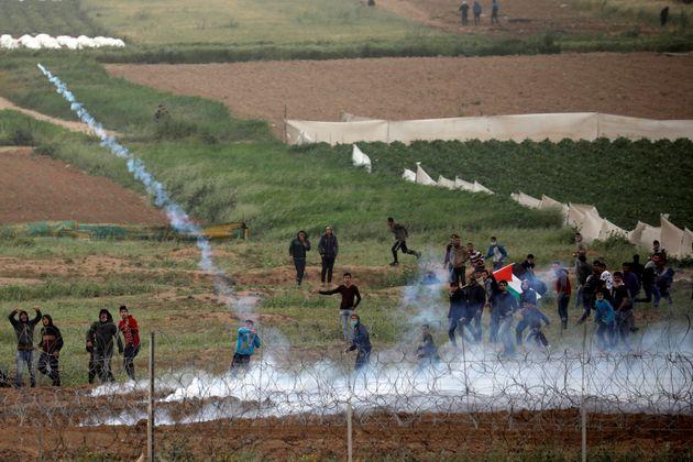 À Gaza, quatre Palestiniens tués à la frontière avec