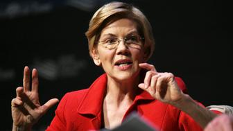 Elizabeth Warren speaks at the Heartland Forum in Storm Lake, Iowa, on March 30, 2019.