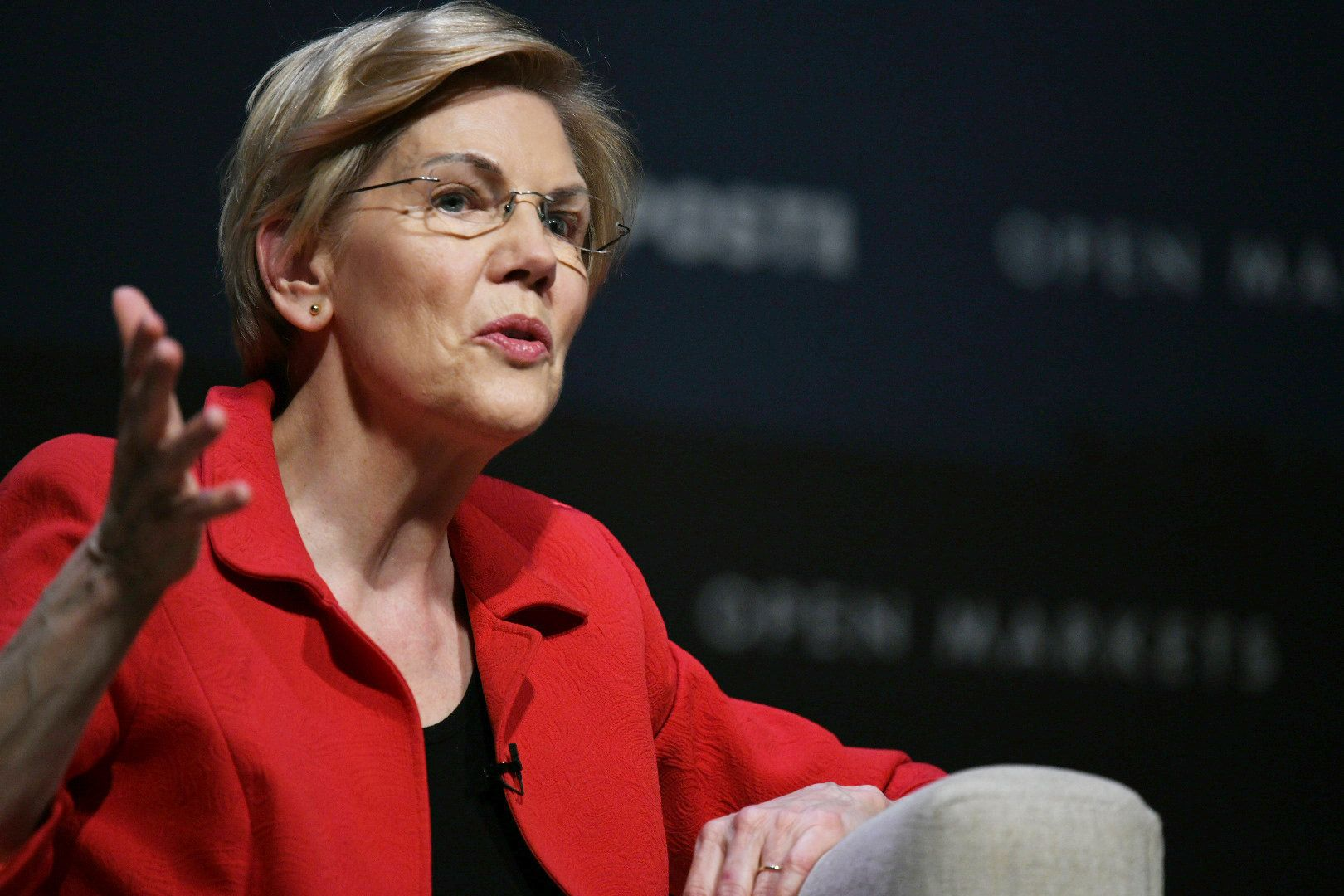 Sen. Elizabeth Warren at Heartland Forum of Democratic presidential candidates in Storm Lake, Iowa, on Saturday, March 30, 2019.