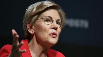Sen. Elizabeth Warren at Heartland Forum of Democratic presidential candidates in Storm Lake, Iowa, on Saturday, March 30, 2019.