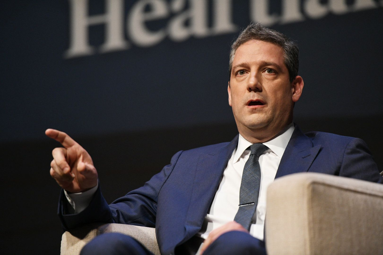 Rep. Tim Ryan (D-Ohio.) takes part in the Heartland Forum.