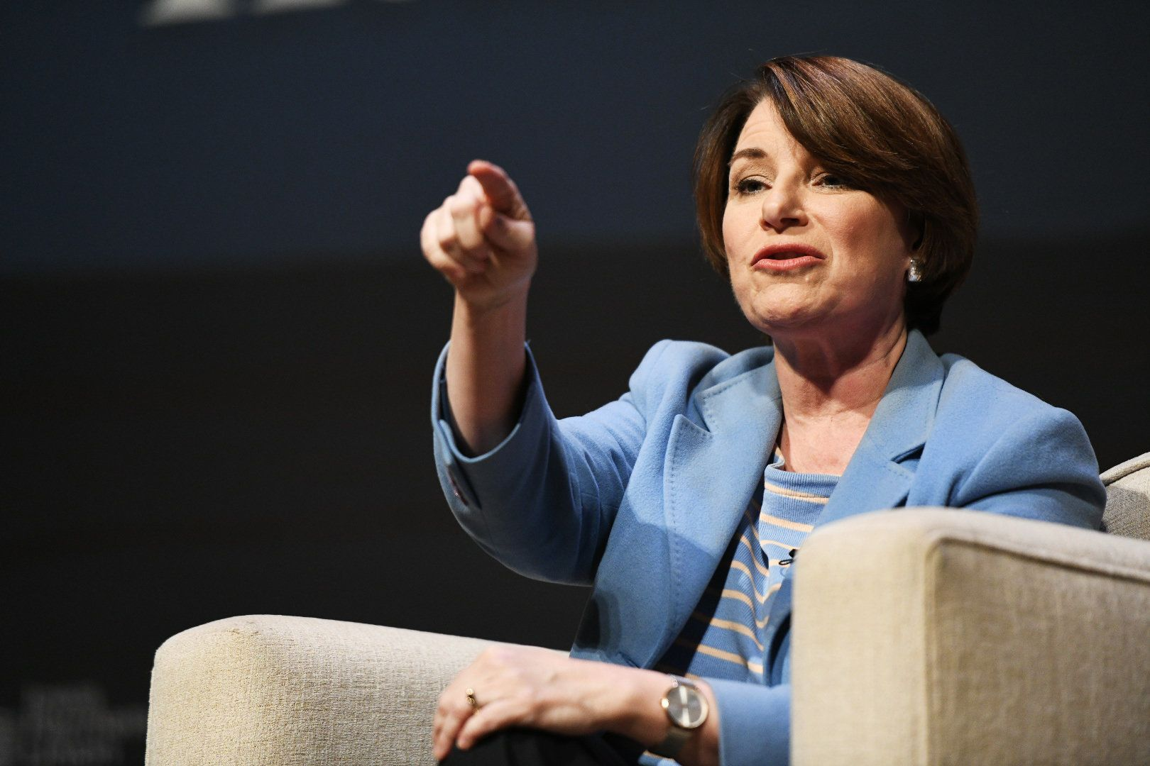 Amy Klobuchar participates in the Heartland Forum.