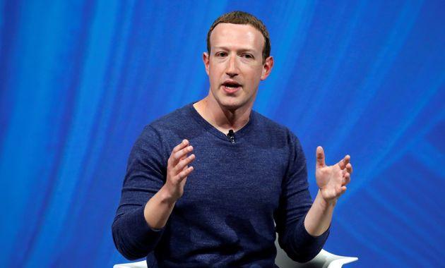La patron de Facebook Mark Zuckerberg au sommet Viva Tech à Paris, le 24 mai