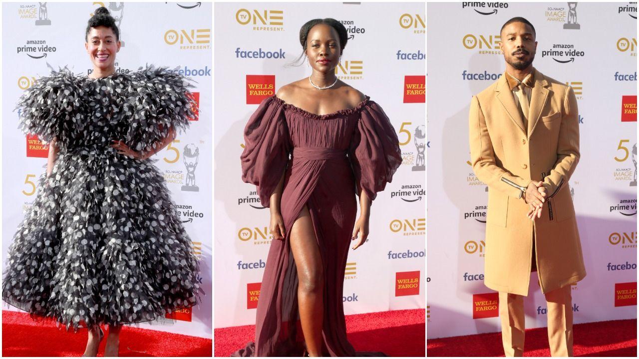 Tracee Ellis Ross, Lupita Nyong'o, Michael B. Jordan at 50th NAACP Image Awards (Getty Images)