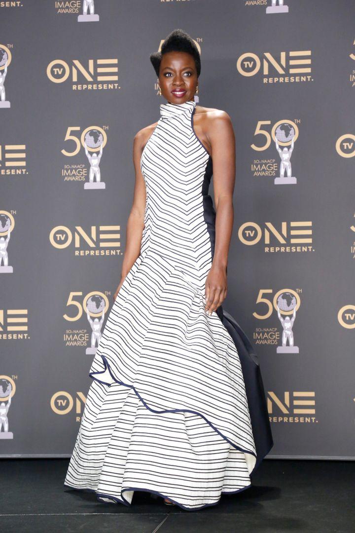 Danai Gurira at the 50th NAACP Image Awards.