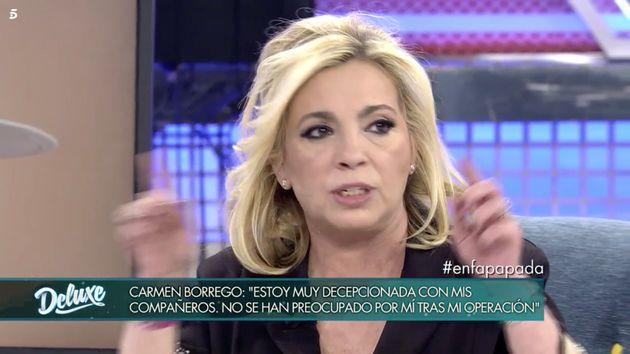 La bronca de Carmen Borrego a sus compañeros de 'Sábado Deluxe' por hablar de su