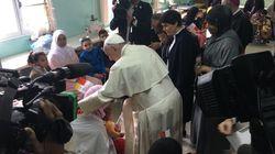 Le pape François fait escale dans un centre rural des œuvres sociales à