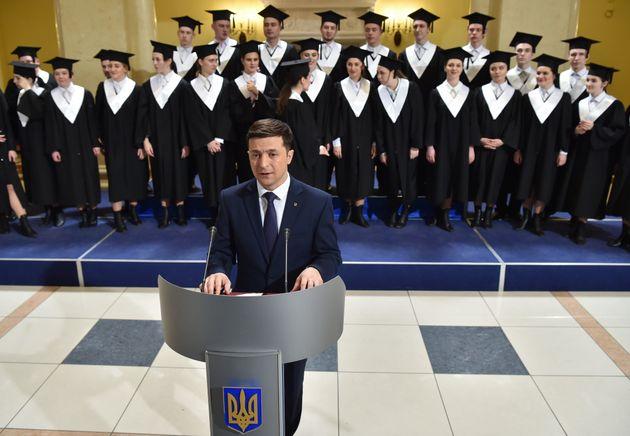 Volodymyr Zelensky sur le plateau de la série