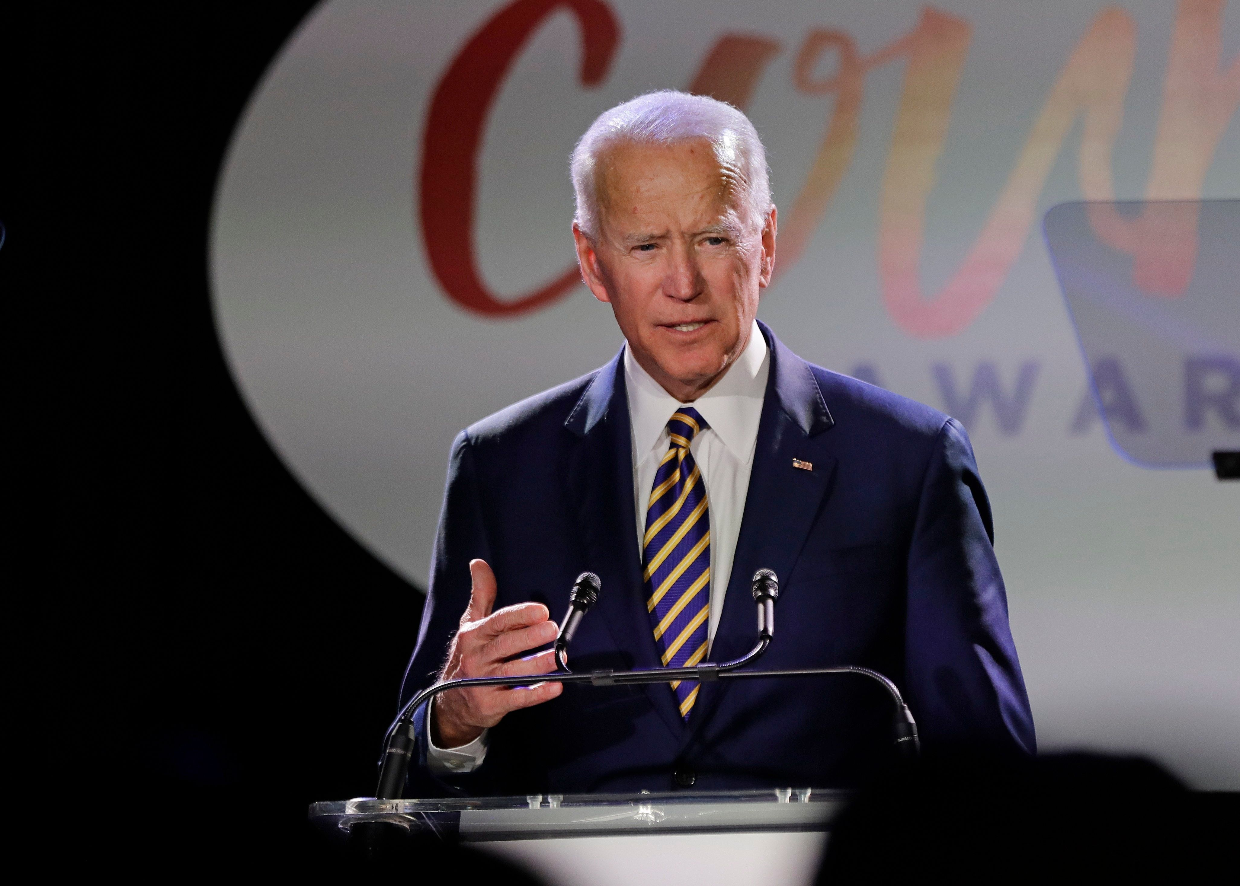 "Former Vice President Joe Biden, seen last week in New York, has said that he does not believe that he ever ""acted inappropri"