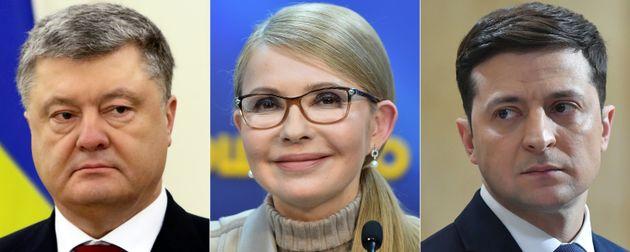Ukraine: Volodymyr Zelensky et le président Porochenko qualifiés au second