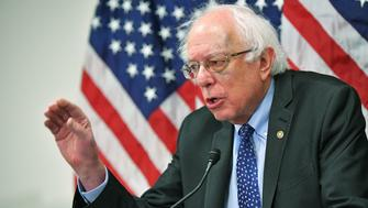 Senator Bernie Sanders (I-VT) speaks during a press conference announcing the 'Community Health Center and Primary Care Workforce Expansion Act of 2019' at the US Capitol in Washington, DC on March 28, 2019. (Photo by MANDEL NGAN / AFP)        (Photo credit should read MANDEL NGAN/AFP/Getty Images)
