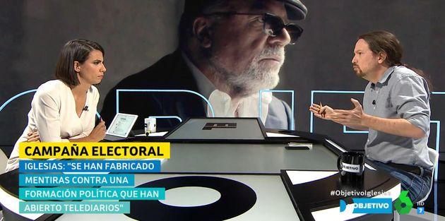 El pique entre Ana Pastor y Pablo Iglesias en 'El Objetivo':