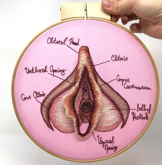Avec ses ovaires et ses vulves, la broderie devient un art