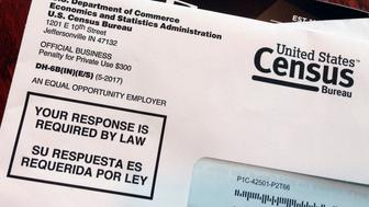 This March 23, 2018 photo shows an envelope containing a 2018 census test letter mailed to a resident in Providence, R.I. The nation's only test run of the 2020 Census is in Rhode Island, and its drawing concerns from community leaders, good government groups and others about how it's being run. (AP Photo/Michelle R. Smith)