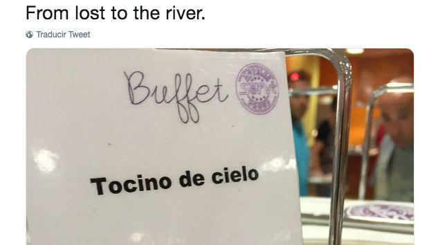 La traducción de este cartel en un buffet que triunfa en