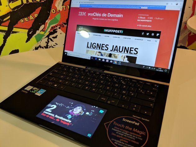 L'Asus ZenBook Pro 14 et son Screenpad avec sa fonction second