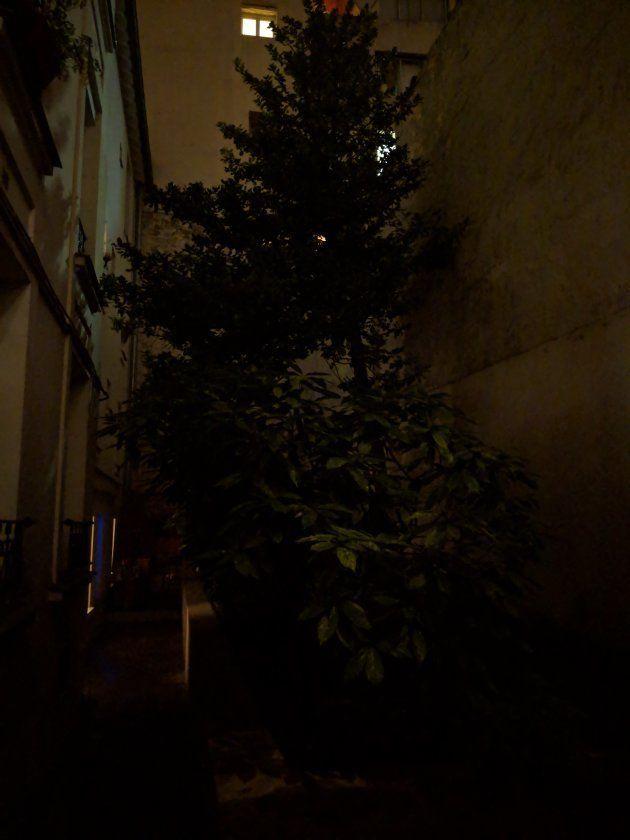 Ici, une photo sans mode nuit réalisée avec un Pixel